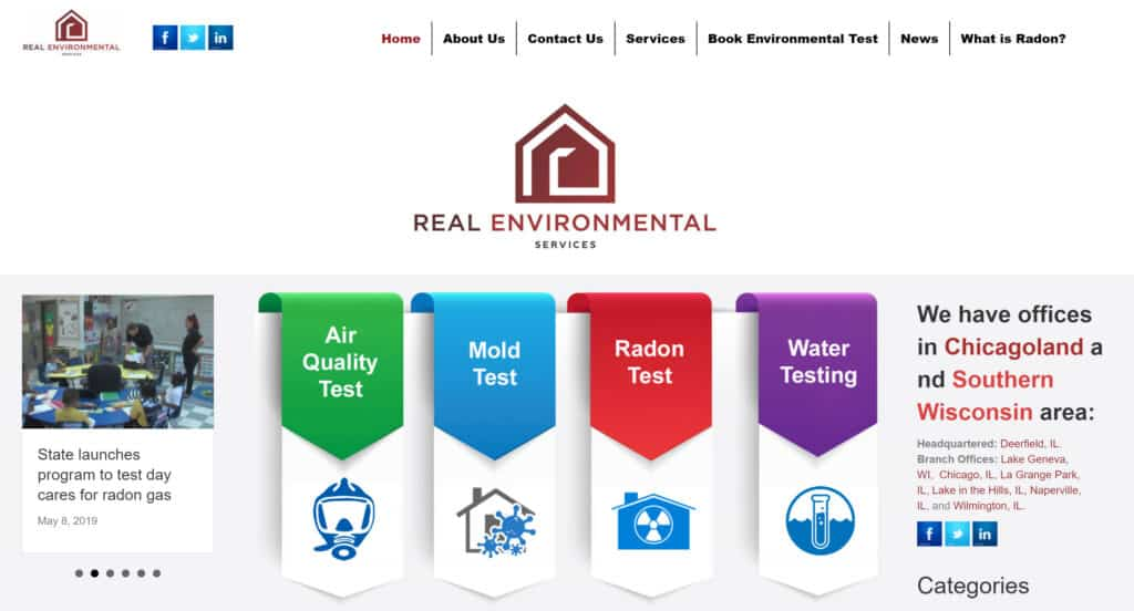 Real Environmental Services Website Development